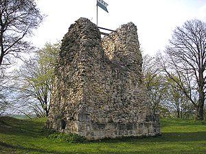 Güssenburg Castle - Ruins of the central keep