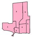 Burlington, Ontario ward map.png