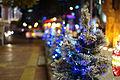 Cây thông và đèn trang trí Giáng Sinh, Thành phố Hồ Chí Minh 2013.JPG