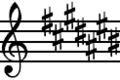 C-sharp Major key signature.png