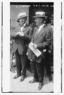Charles F. Murphy and Smith in 1915 C.F. Murphy and A.E. Smith LCCN2014701930.jpg