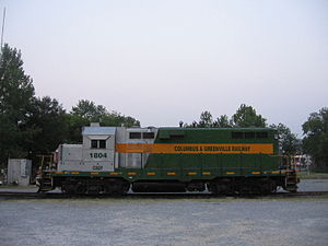GP11 - A former IC GP11 now owned by the Columbus and Greenville Railway