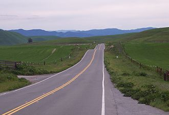 State Scenic Highway System (California) - SR 198 between San Lucas and Coalinga