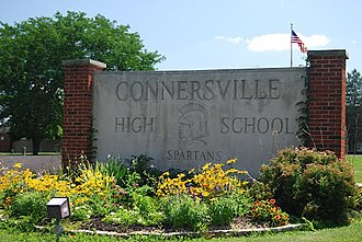 Connersville High School - CHS front sign
