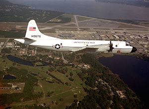 CNO VP-3A Orion in flight over NAS Jacksonville 1986.JPEG