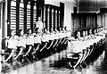 COLLECTIE TROPENMUSEUM Gymnastiekonderwijs op de 'Normaalschool tot opleiding van inheemse hulponderwijzeressen' te Yogyakarta Java TMnr 10002334.jpg