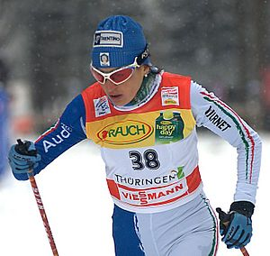 2010 European Mountain Running Championships - Italian cross-country skier Antonella Confortola came in fourth place.
