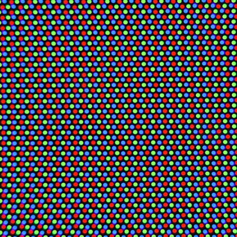 CRT screen. closeup