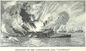 CSS Louisiana - The Louisiana explodes