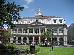 The Cabildo - The Cabildo has Spanish arches with a French mansard roof.