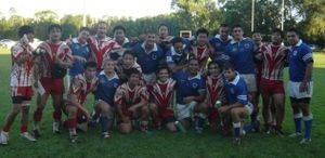 Japan national rugby league team - The Japanese national rugby league team after a match
