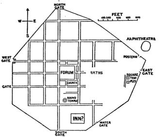 Calleva Atrebatum - Site plan of Calleva Atrebatum