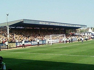 Cambridge United F.C. - Cambridge United supporters at the Abbey Stadium