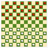 Starting position in Canadian draughts