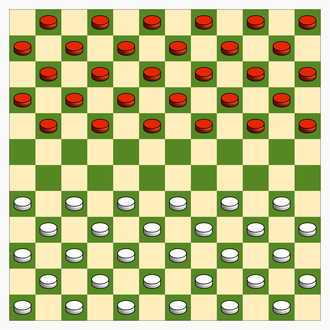 Draughts - Image: Canadian Checkers gameboard and init config