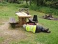 Canalkeeper volunteer mending picnic table - geograph.org.uk - 817324.jpg