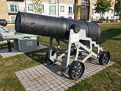 Cannon in James Clavell Square, Woolwich (01).jpg