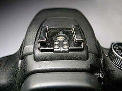 Горячий башмак - позволяет присоединять фотовспышки с бескабельной синхронизацией.