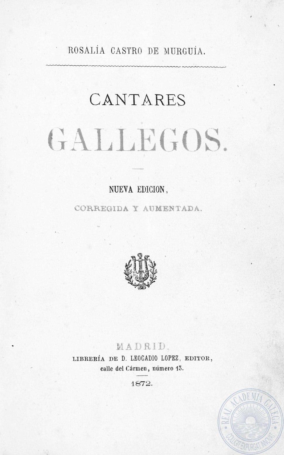 Nueva edición, corregida y aumentada (1872).
