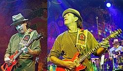 Santana sur scène en 2005