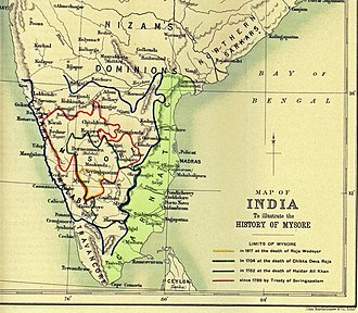 Carnatic Wars - Showing the Carnatic Region of what is now India.