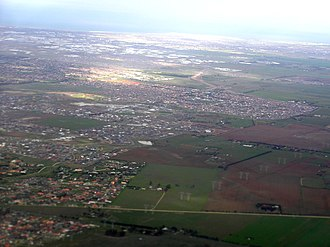 Caroline Springs, Victoria - Aerial view of Caroline Springs from the north
