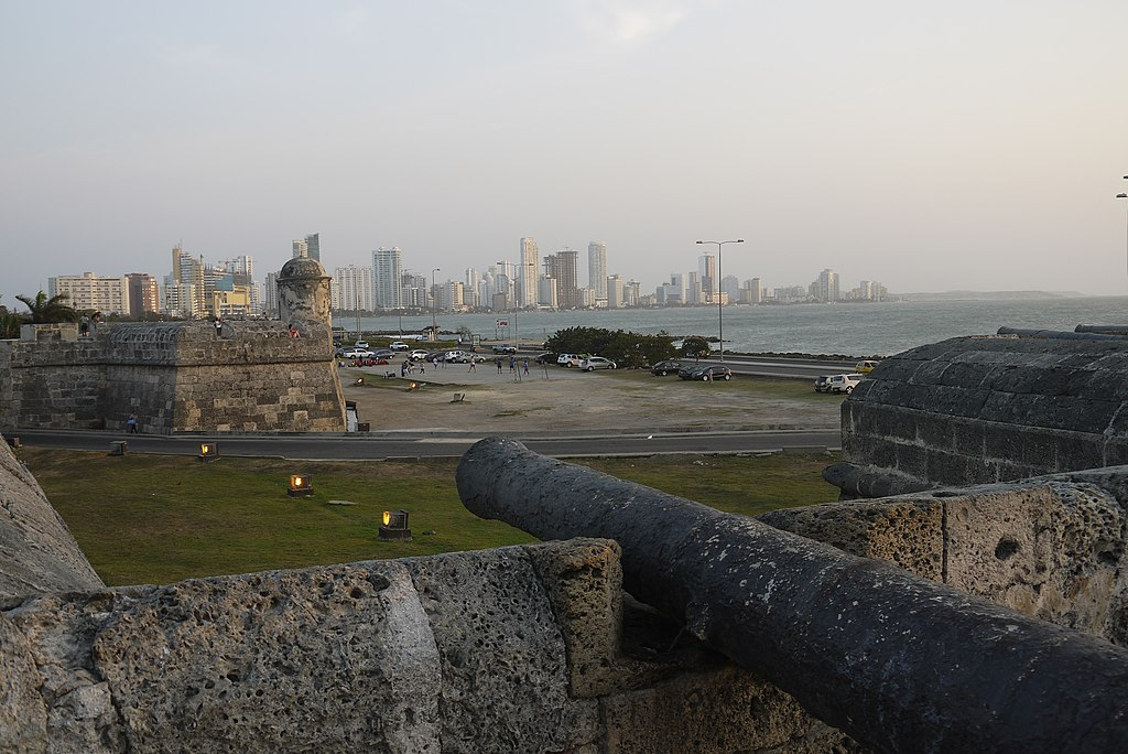 Cartagena skyline from the city walls