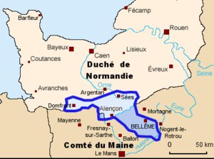 House of Bellême - Image: Carte belleme
