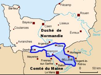 House of Bellême - Image: Carte belleme