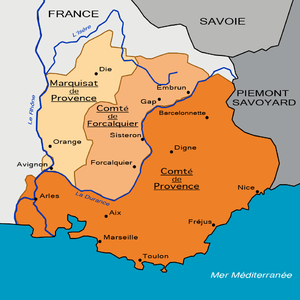 Alfonso Jordan - Division of Provence obtained by Alfonso Jordan in 1125. He ruled the marquisate.
