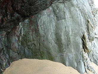 Crantock - Crantock Beach Carving