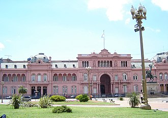 Outline of Argentina - The Casa Rosada, seat of the Argentine Executive Branch of Government