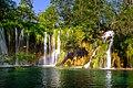 Cascade of waterfalls in Plitvice Lakes National Park. Croatia.jpg