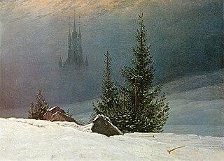Paysage d'hiver avec église