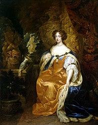 Caspar Netscher: Portrait of Mary Stuart II