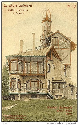 Castel Henriette - Castel Henriette in an advertising postcard produced by Hector Guimard