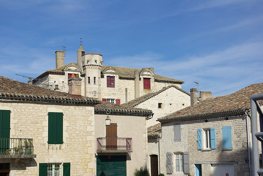 Castle of Castelnau-Montratier (Lot, France).