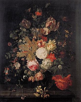 Catharina Backer - Flower still life, 1712