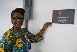 Royal College of Nursing - Cecilia Anim opening the RCN's West Midlands office in 2016