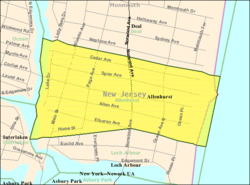 Census Bureau map of Allenhurst, New Jersey