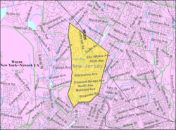 Census Bureau map of Hawthorne, New Jersey