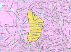 Hawthorne, New Jersey - Image: Census Bureau map of Hawthorne, New Jersey
