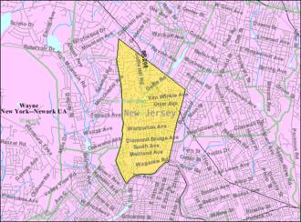 Hawthorne, New Jersey - Image: Census Bureau map of Hawthorne, New Jersey
