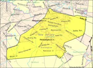 Lumberton Township, New Jersey - Image: Census Bureau map of Lumberton Township, New Jersey