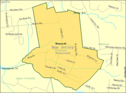 Census Bureau map of Roosevelt, New Jersey