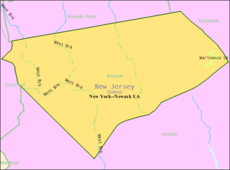 Roselle, New Jersey - Image: Census Bureau map of Roselle, New Jersey