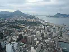 Central Shimonoseki and Kanmon Strait.JPG