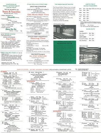 New Victoria Theatre - Image: Centre Halls Program for 1975