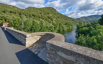 Haut-Languedoc Regional Nature Park - The Orb in the hamlet of Ceps. Roquebrun, Hérault.