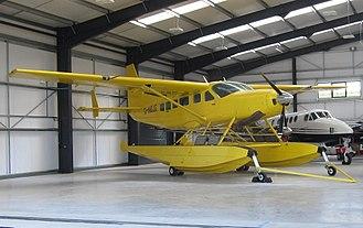 Floatplane - Cessna 208 Caravan 1 floatplane at Gloucestershire Airport, England (2017)